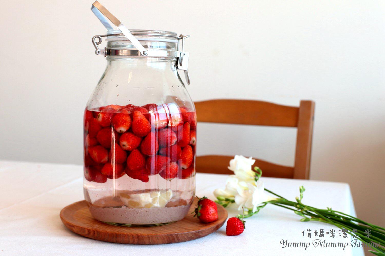 私家純釀。享受過程的美好?草莓酒?每一季歡喜妳的到來,仍想盡方法留住妳的好味道~