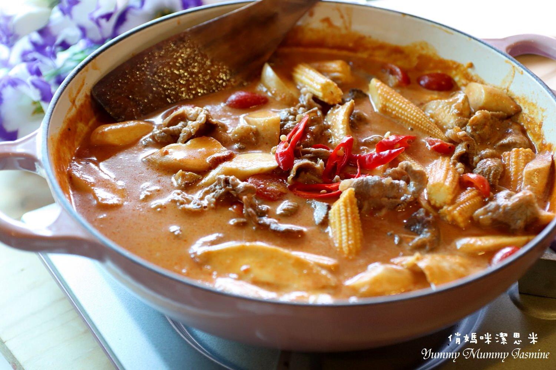 [我家也是泰式小館]中等辣度的🔥泰式椰香紅咖哩牛肉🔥簡單步驟輕鬆做!!!