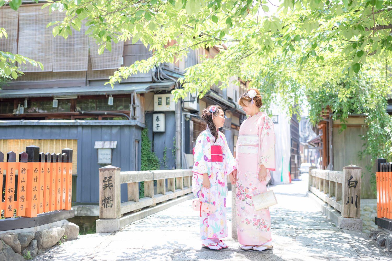 [京。和服]少女的花漾浴衣❤婦女的訪問著和服☀京都散步外拍體驗分享(圖多)