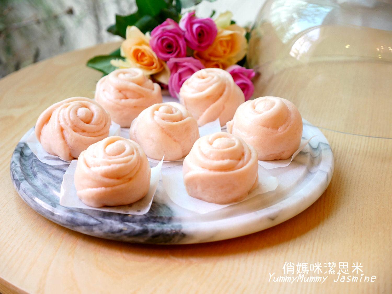 玫瑰花造型饅頭🌹玫瑰花饅頭。中式饅頭也可以很甜美浪漫~