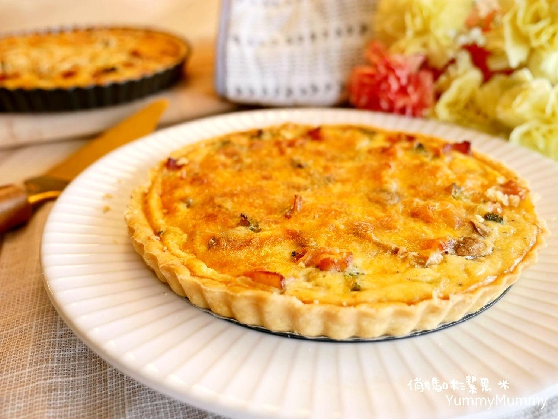 超詳細做法分解圖❤培根洋蔥鹹派。法式鹹派。洛林鹹派❤Bacon Onion Quiche / Quiche Lorraine