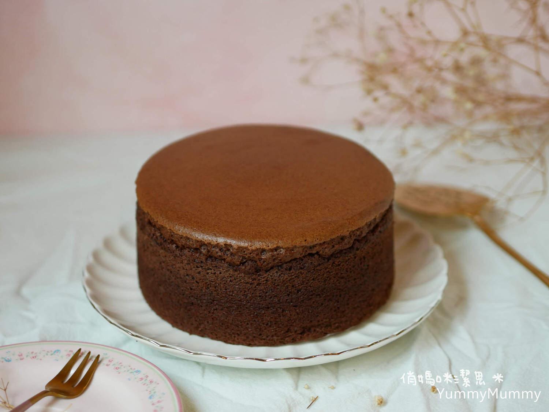 濕潤綿密❤巧克力棉花蛋糕❤表皮不破裂!燙麵法 V.S 水浴法!!!