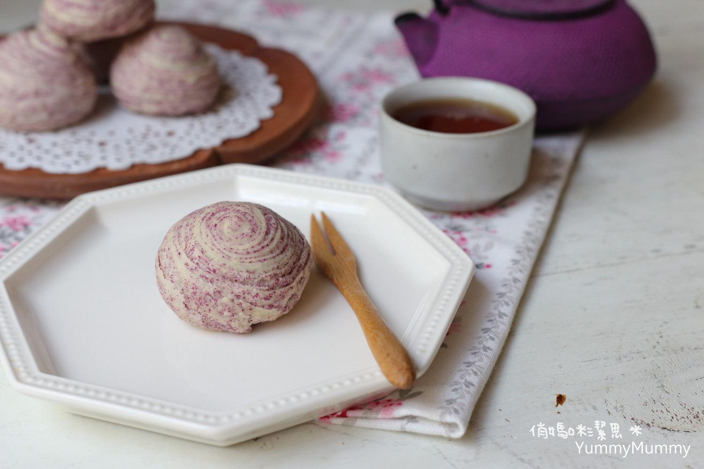 中秋節❤千層芋頭酥❤簡單斜捲法,桿得長,層次多!