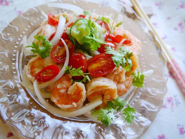 ☆∴潔思米上菜∴☆泰式鮮蝦沙拉