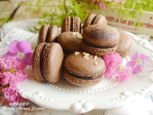 ❤馬卡龍。簡單不簡單03號。巧克力馬卡龍X甘納許內餡❤其它烤溫分享